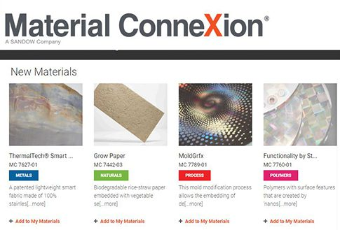 Material Connexion Digital Materials Research Library